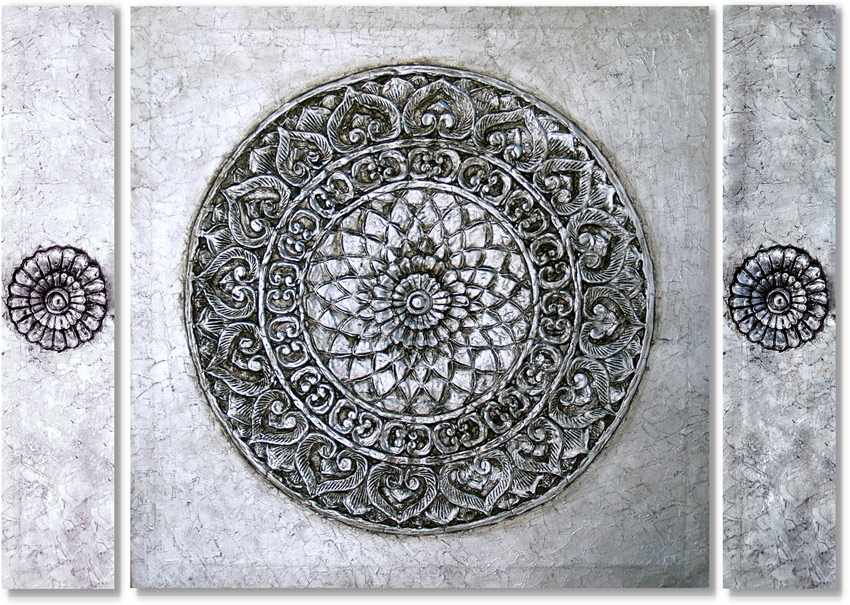 Estudio delier mandala zen triptico 140x100 cm - Cuadros mandalas ...