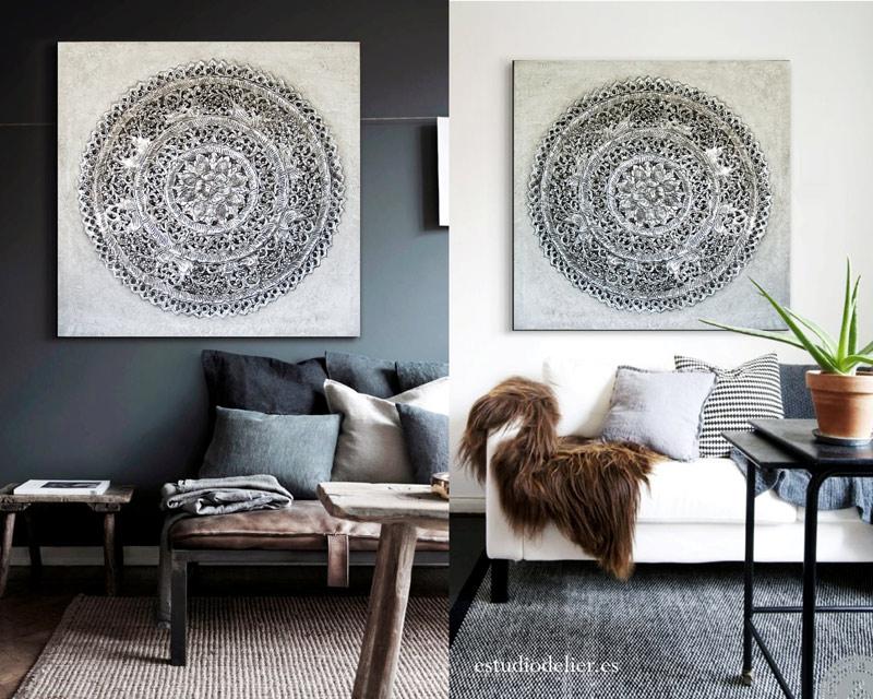 cuadros para el sofa coloniales