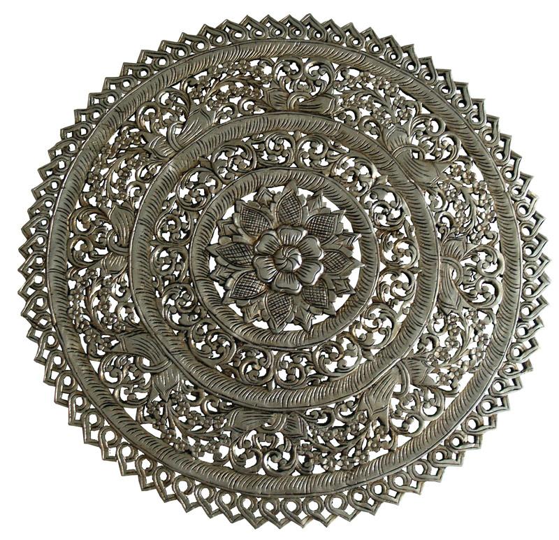 mandala roseton plata