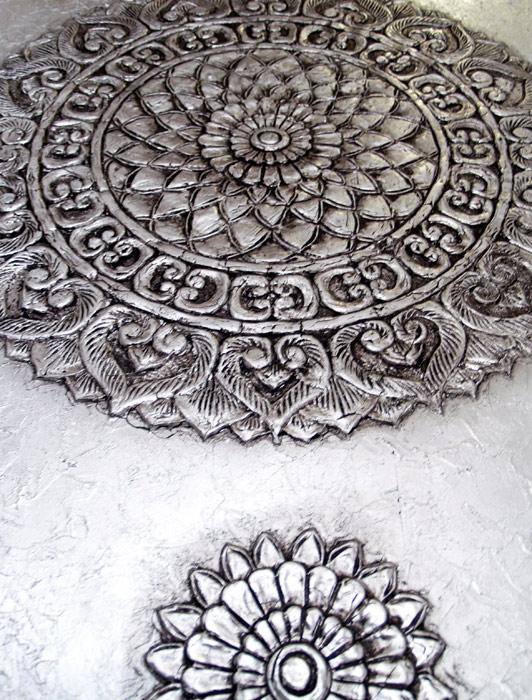 rosetones mandalas platas