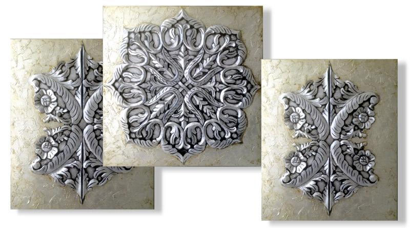 tripticos cuadros platas