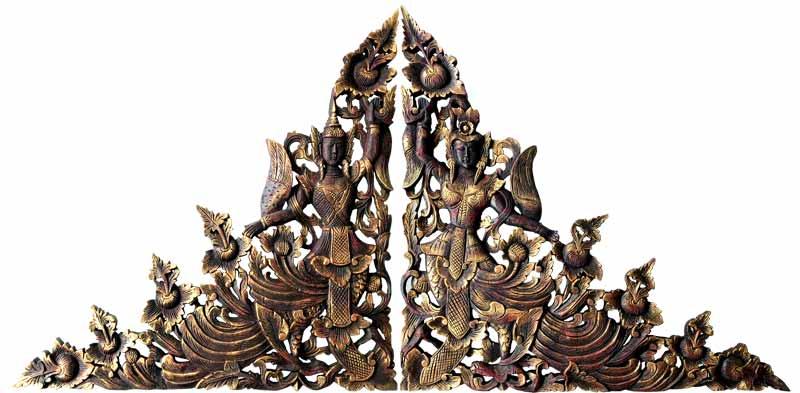 talla de madera cabeceros orientales