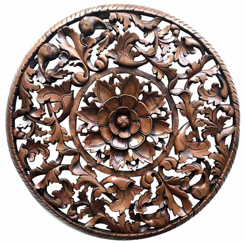 mandala madera tallada