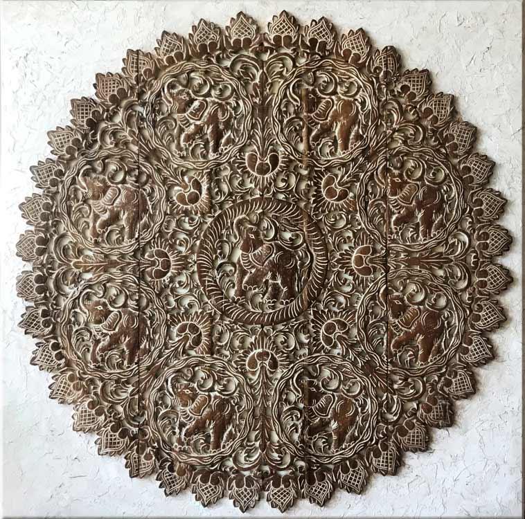 tallas rosetones de madera antiguos