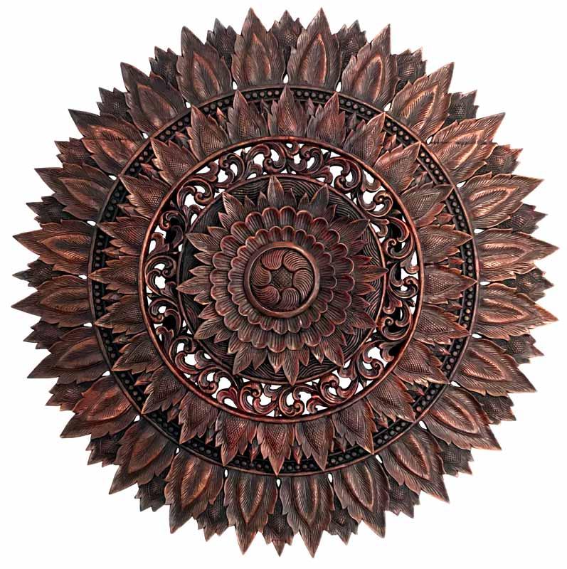 mandalas tallas de madera rosetones