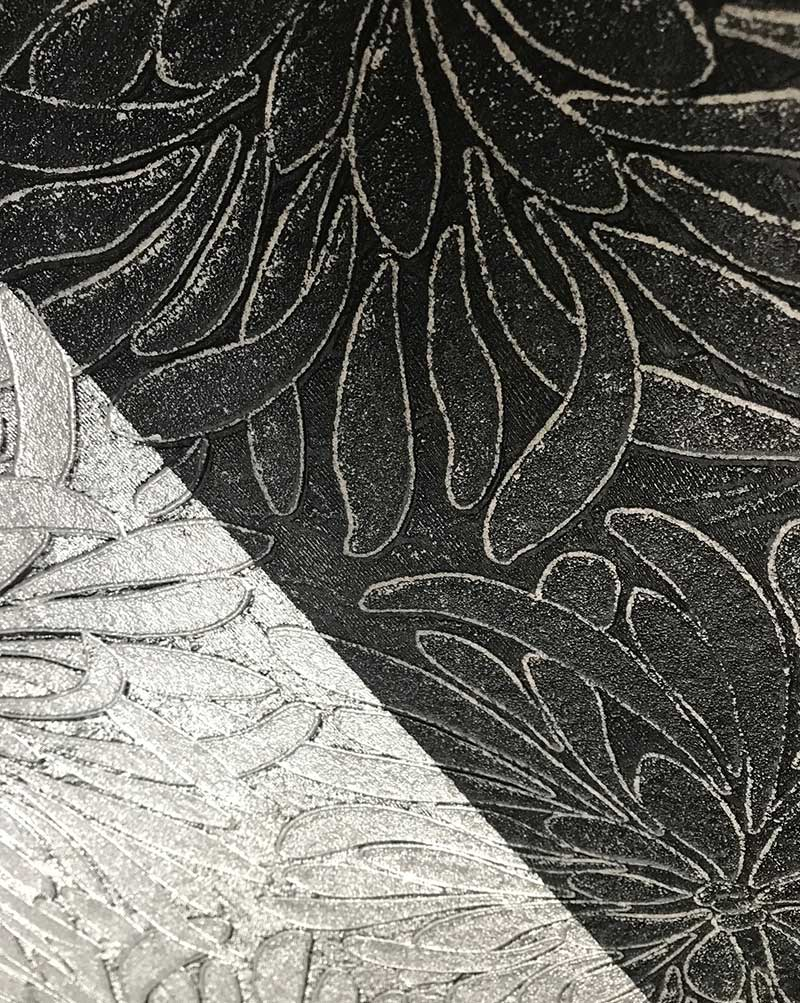 texturas plata y negras
