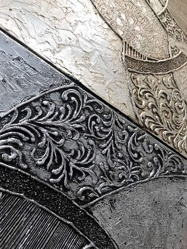 cuadros texturas plateadas