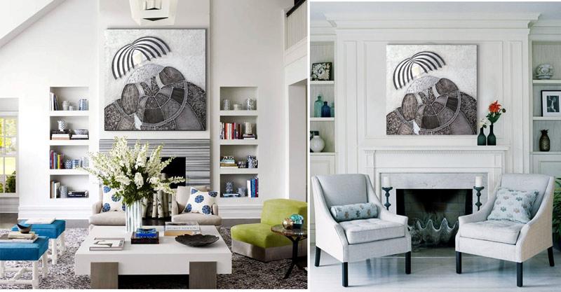 cuadros para salones modernos