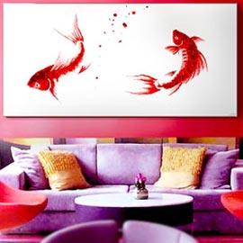 cuadros en rojo orientales