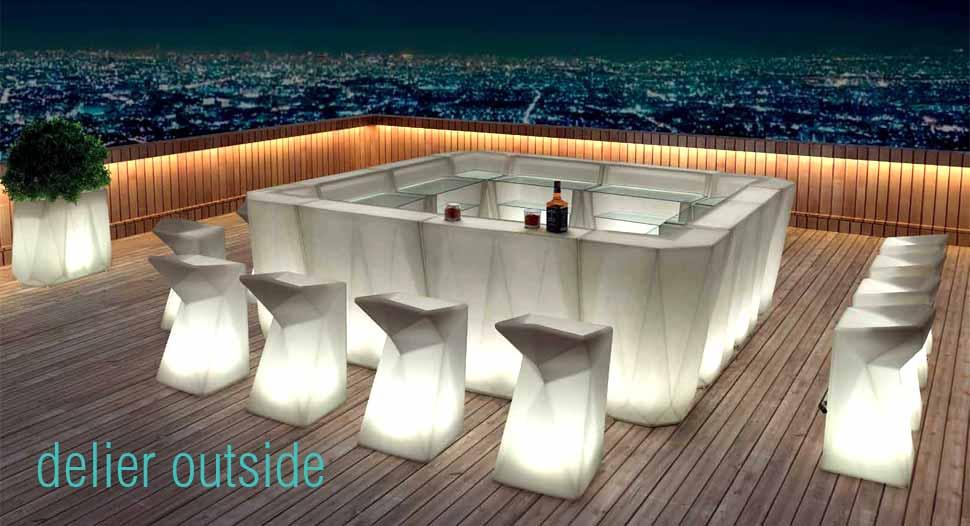 muebles con led exterior
