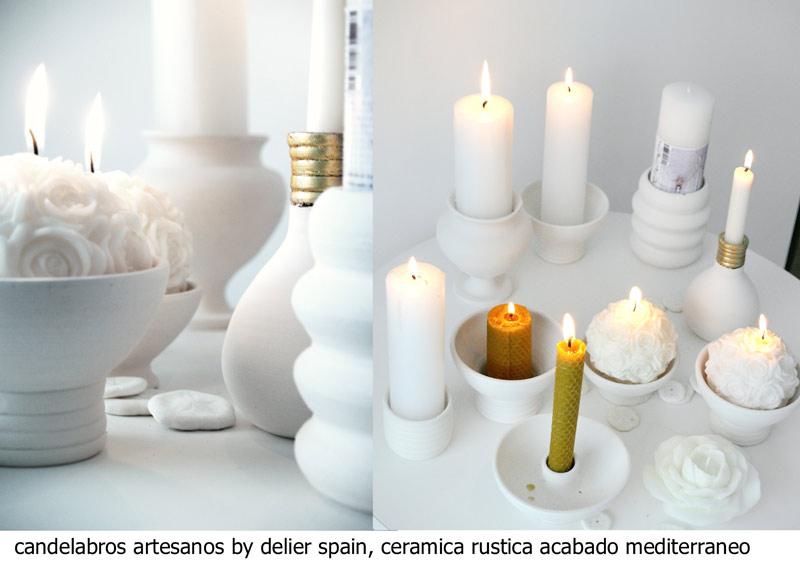 soportes de ceramica velas