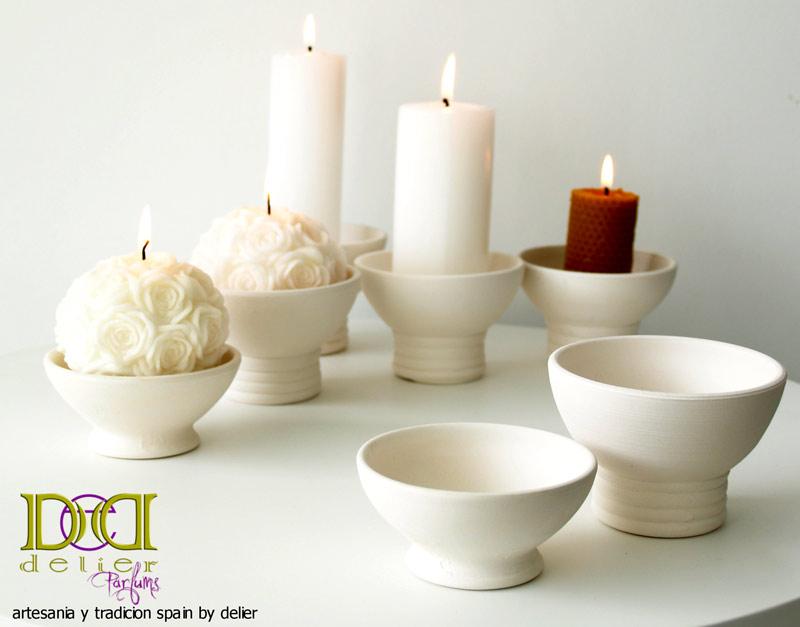 candelabros ceramica