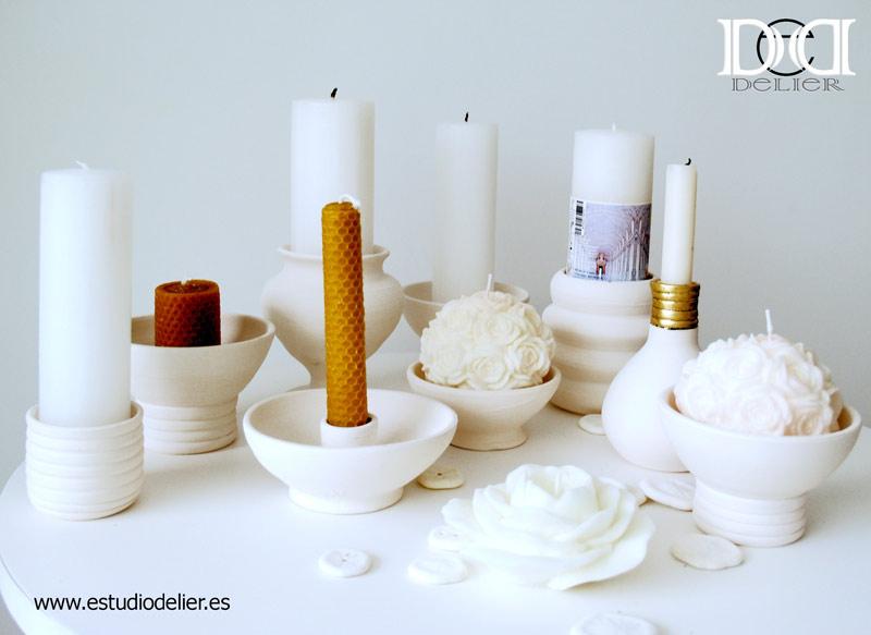 candelabros de ceramica