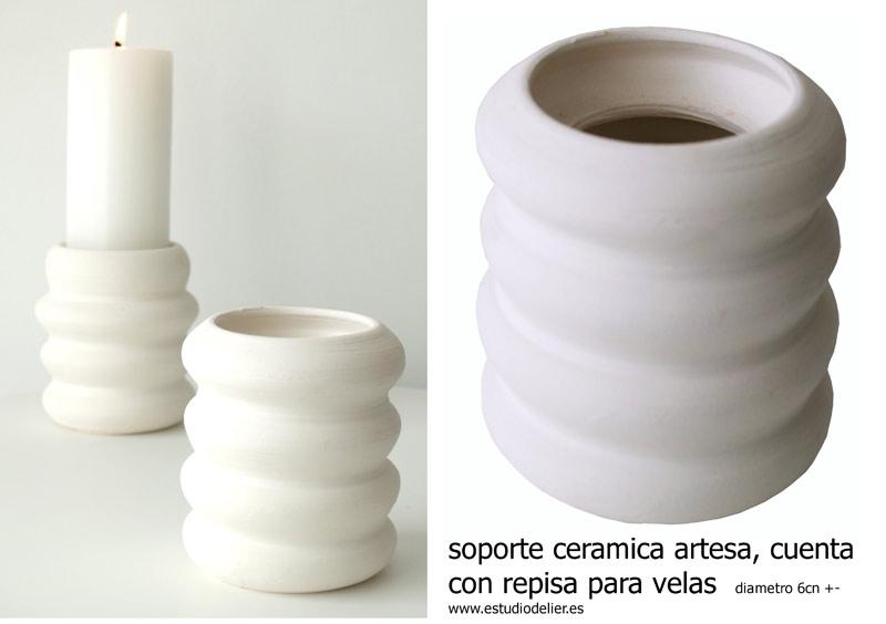 soportes de ceramica para velas