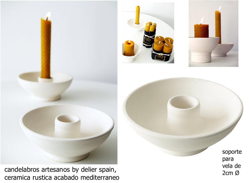 Estudio delier candelabro soporte vela palmatoria - Soportes para velas ...