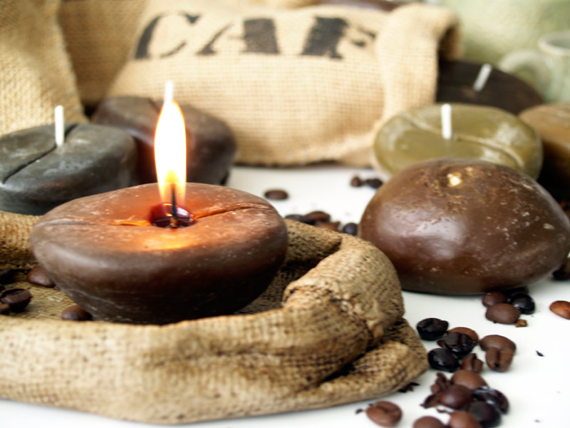 Estudio delier soporte saco cafe quemador velas - Soportes para velas ...