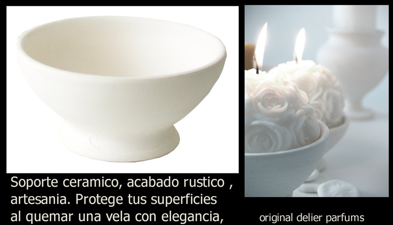candelabros ceramica velas