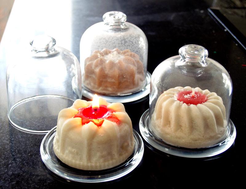 velas con formas de pastelitos