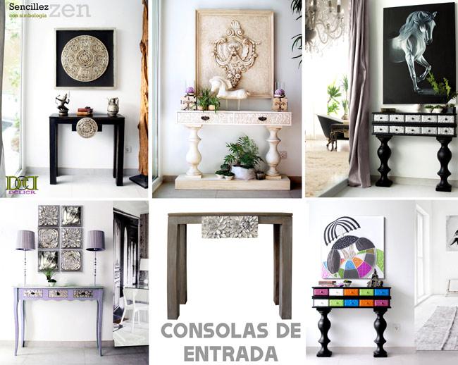 consolas muebles coloniales