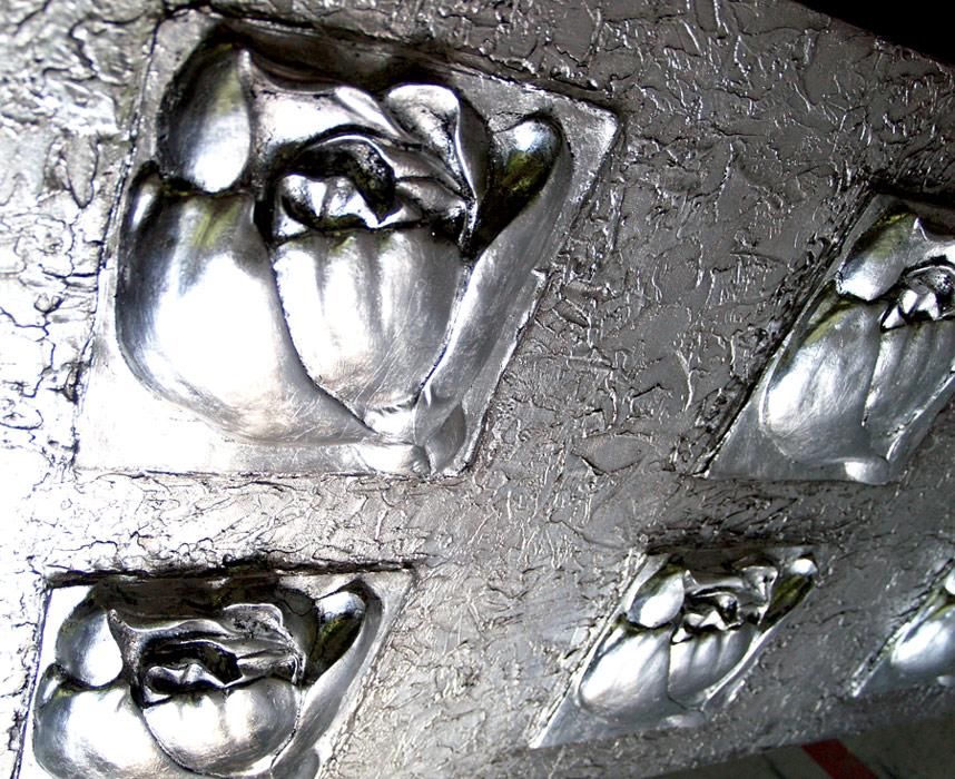 cuadros en pan de plata