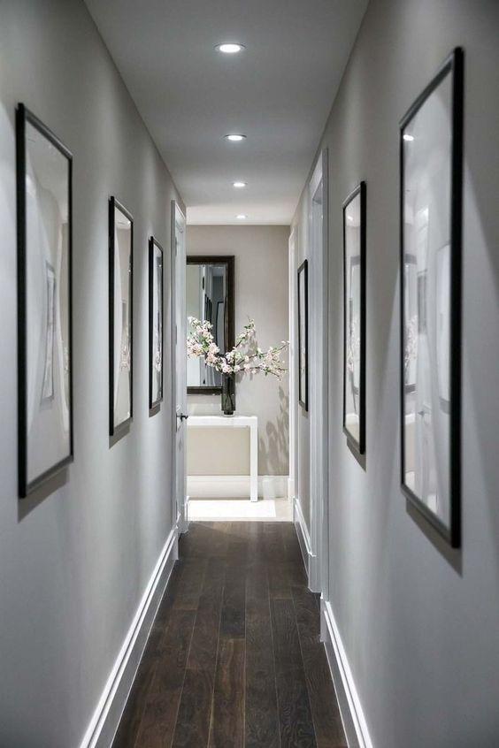 decoracion pasillos estrecho