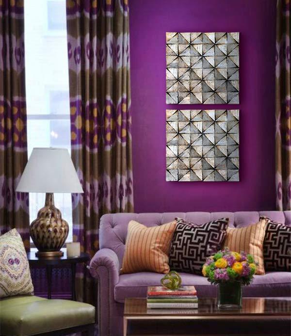 cuadros en violeta
