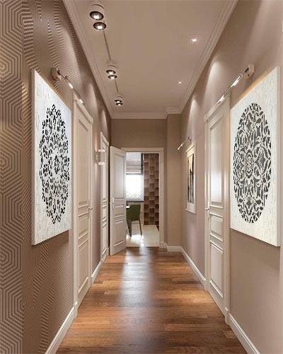 decoracion pasillos cuadros