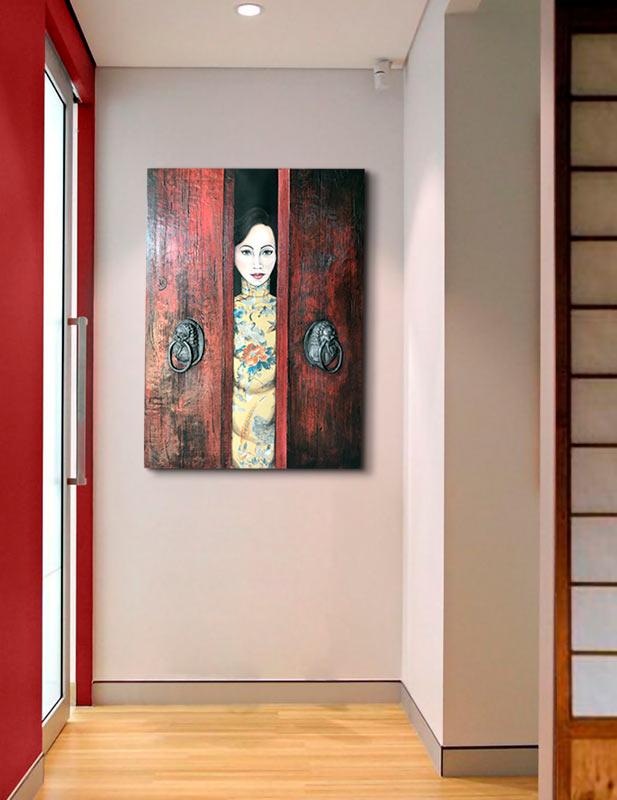 cuadros orientales pasillos