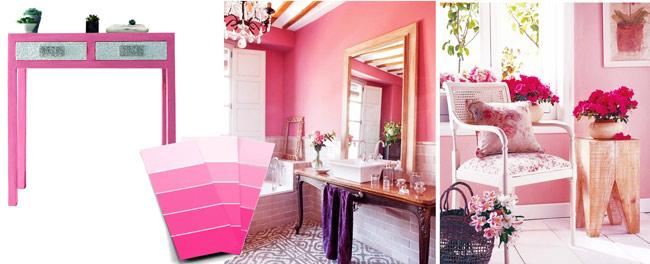 color rosa tienda