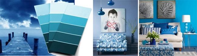 muebles en azul
