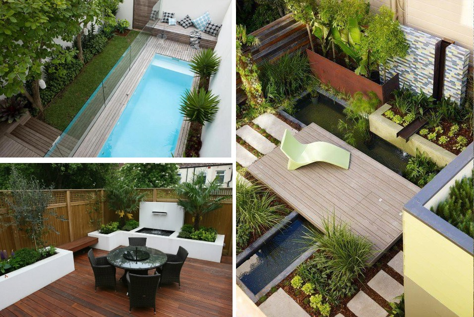 Como decorar una terraza o patio peque o for Patios modernos con piscina