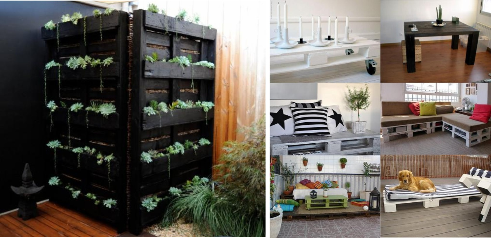 ideas para hacer muebles caseros y reciclando palets