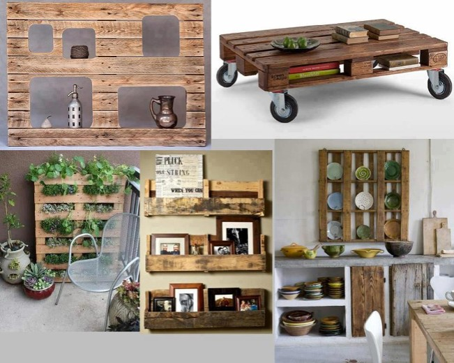Ideas decorativas reciclando for Decoracion palets jardin