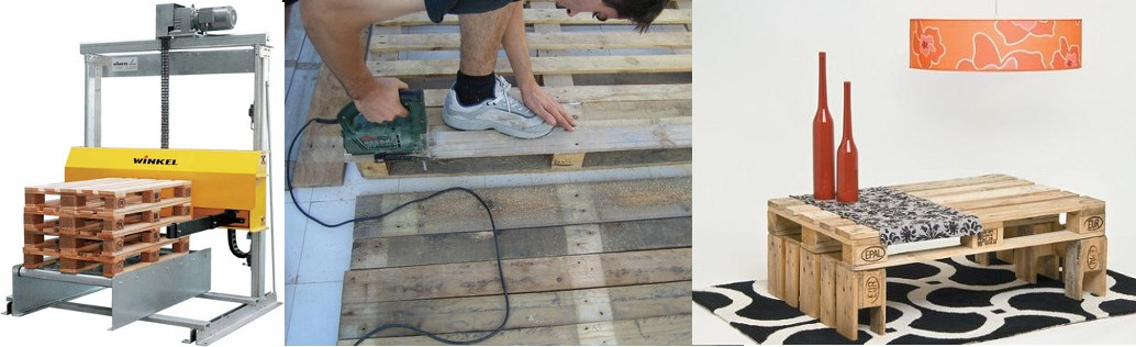 Crear muebles con palets reciclemos for Reciclar palets de madera muebles