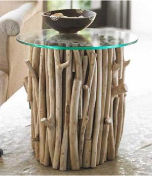 Muebles Con Ramas Y Troncos Reciclar