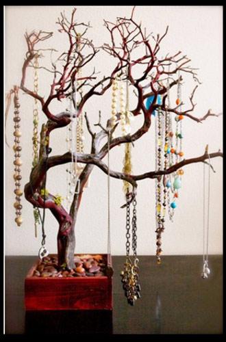 ideas para colgar joyas