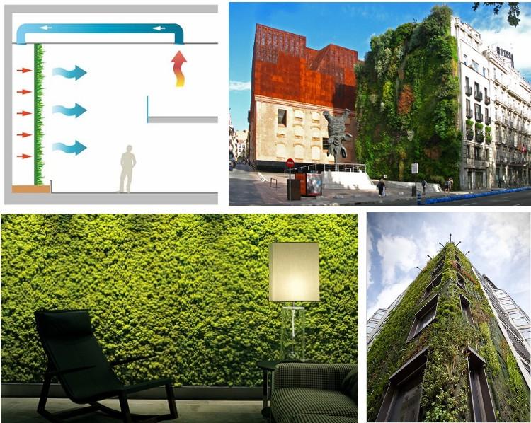 Sensaciones de hogar jardines verticales for Jardines verdes verticales