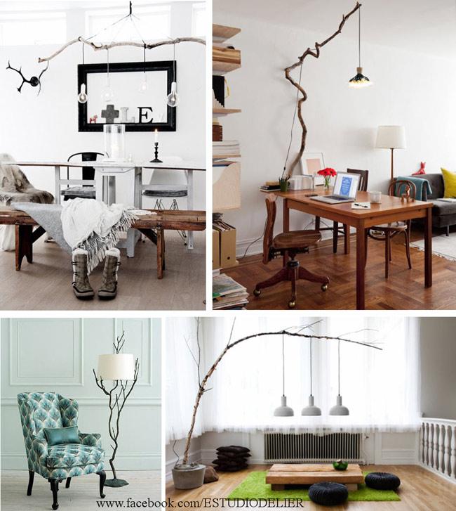 Muebles con ramas y troncos reciclar - Decorar reciclando muebles ...