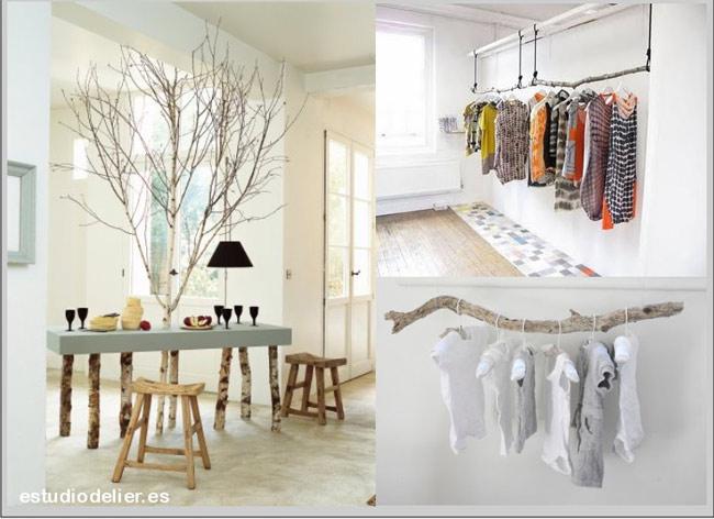ideas para muebles con ramas