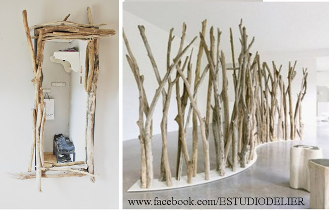 Muebles con ramas y troncos reciclar - Como reciclar muebles ...