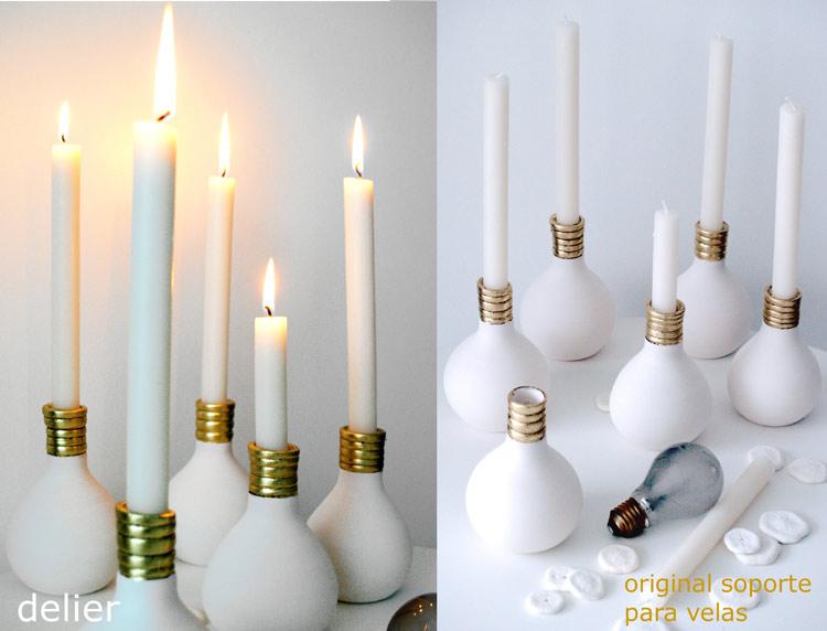 candelabros originales para velas