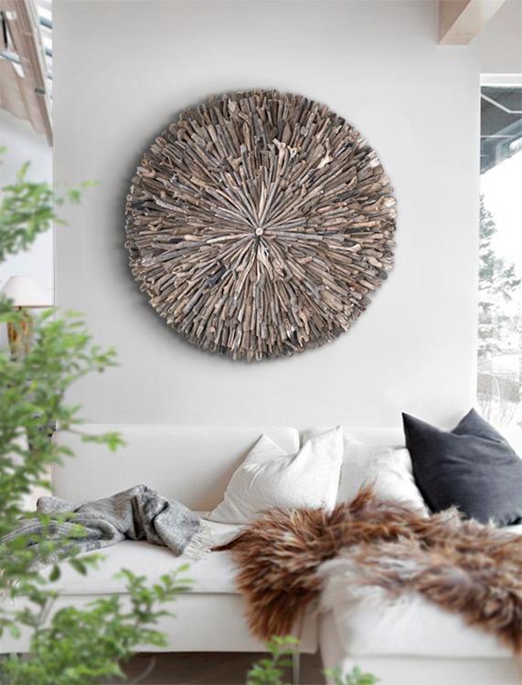 roseton madera decoracion
