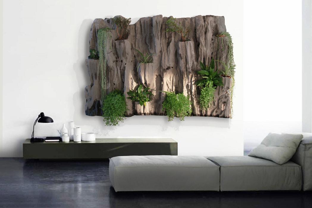 Jardines verticales javaneses - Decoracion con piedras en interiores ...