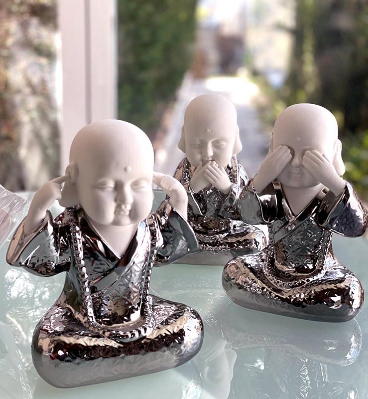 Figuras Buda ver oir y callar
