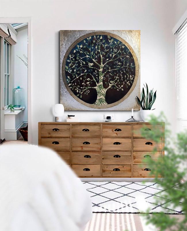 cuadros modernos dormitorio salon
