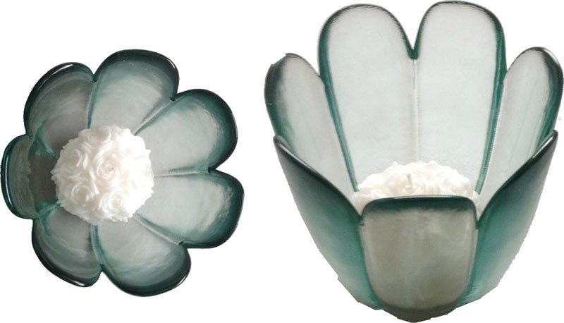soportes de cristal velas