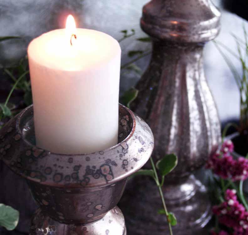 candelabros plateados