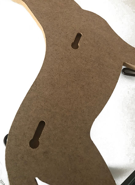siluetas madera perros