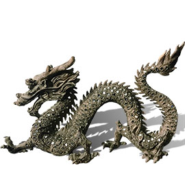 dragones decorativos orientales