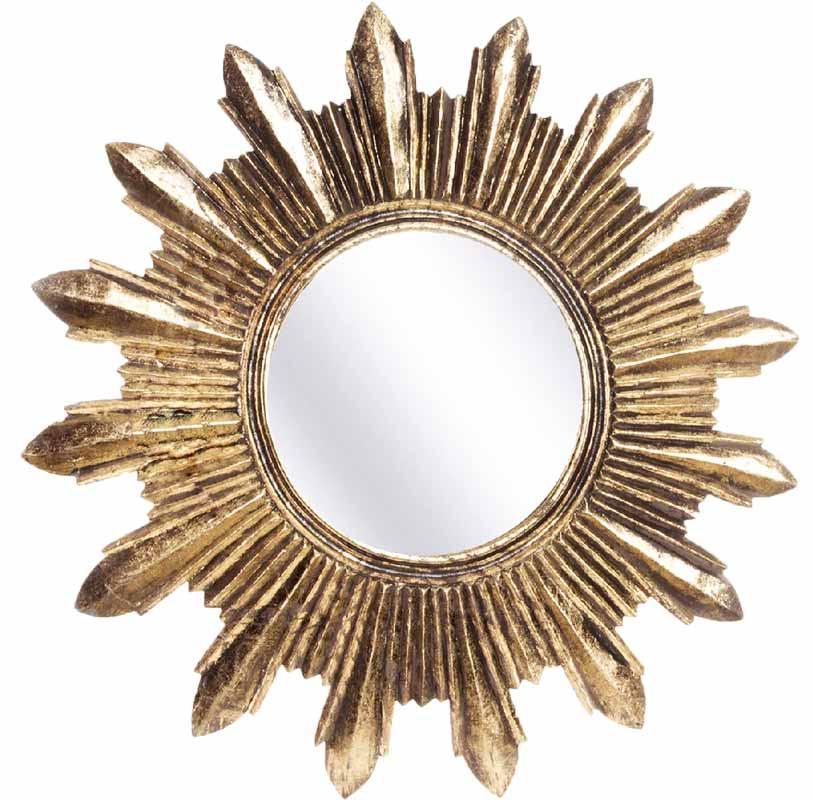 espejos sol dorados